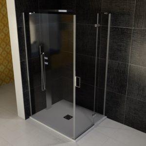 1000x1100mm, левая, прозрачное стекло