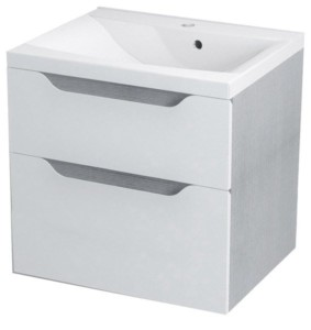 ТУМБА С УМЫВАЛЬНИКОМ 60x65x47,8 см, белый дуб серебряный