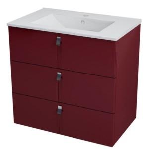 ТУМБА С УМЫВАЛЬНИКОМ 74,5x70x45,2 см, бордовый