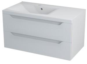 ТУМБА С УМЫВАЛЬНИКОМ 89,7x45x47,8 см, левая, белая