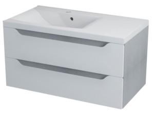 ТУМБА С УМЫВАЛЬНИКОМ 89,7x45x47,8 см, левый, белый дуб серебряный