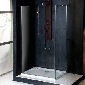 900x800mm, левая, прозрачное стекло