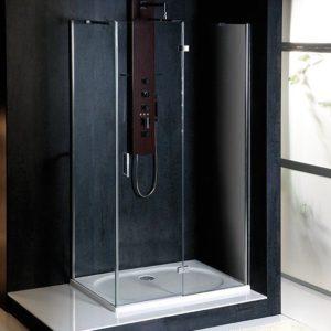 900x800mm, правая, прозрачное стекло