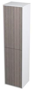 Шкафчик высокий 35x140x30cm, левая правая, белый венге мали