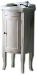 RETRO ТУМБА С УМЫВАЛЬНИКОМ 36,5x85x29 cm, белый состаренный