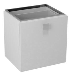 Ящик нижний 53x53x44cm, правая, белый