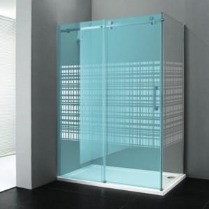 боковые стены 900мм, стекло ХОЛСТ, левой