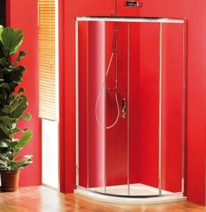 душ экран 1000x1000 мм, R550, 1 дверь, L R, прозрачное стекло