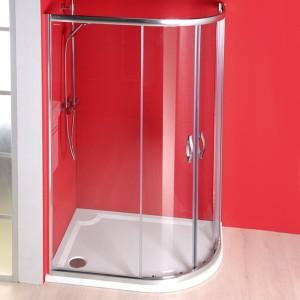 душ экран 1200x900 мм, R550, 2 двери L R, прозрачное стекло
