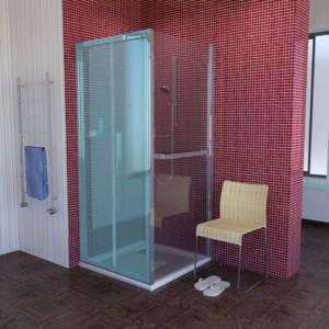 душевая боковая стенка 800 мм, прозрачное стекло