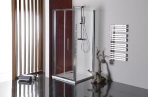 душевая боковая стенка 900мм, прозрачное стекло