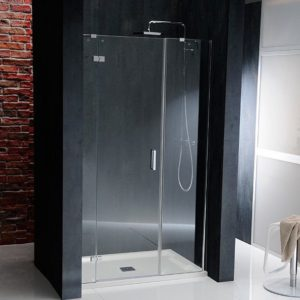 душевая дверь 1400mm, левая, прозрачное стекло