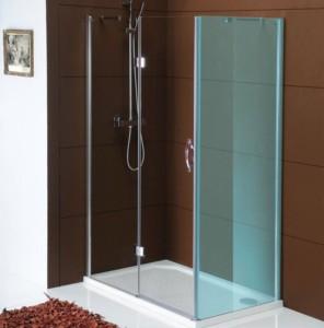 душевые двери 1200 мм, прозрачное стекло