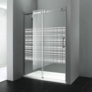 душевые двери 1200 мм, стекло ХОЛСТ, левой