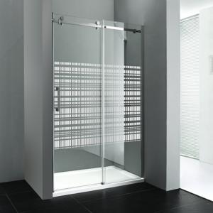 душевые двери 1200 мм, стекло ХОЛСТ, правой