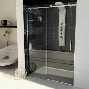 душевые двери 1400mm, прозрачное стекло