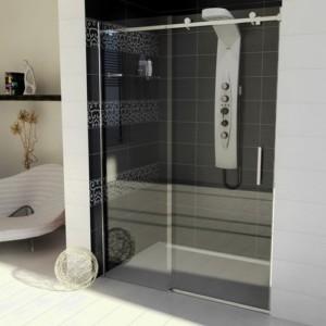 душевые двери 1600mm, прозрачное стекло