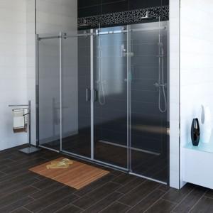 душевые двери 1700mm, прозрачное стекло