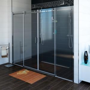 душевые двери 1800мм, прозрачное стекло