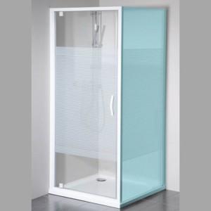 душевые двери 800мм, стекло, STRIP