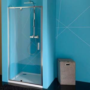 душевые двери распашные 760-900мм, прозрачное стекло
