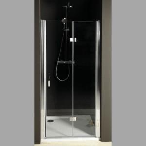 душевые двери складывающиеся 900 мм, левая, прозрачное стекло