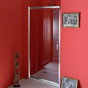 двери распашные 890-1030 мм, прозрачное стекло