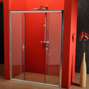 двери раздвижные 1500 мм, прозрачное стекло