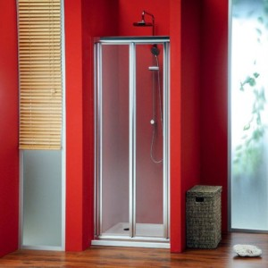 двери складные, 800 мм, прозрачное стекло