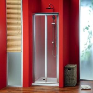 двери складывающиеся 900 мм, прозрачное стекло