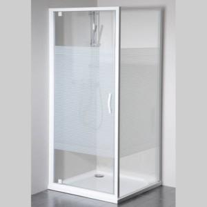 душевая кабина 900x900mm Л П вариант, стекло, Strip