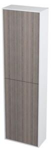Шкафчик высокий 40x140x20cm, левая правая, белый венге мали