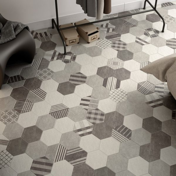 Испанская плитка Equipe коллекция Hexatile Cement