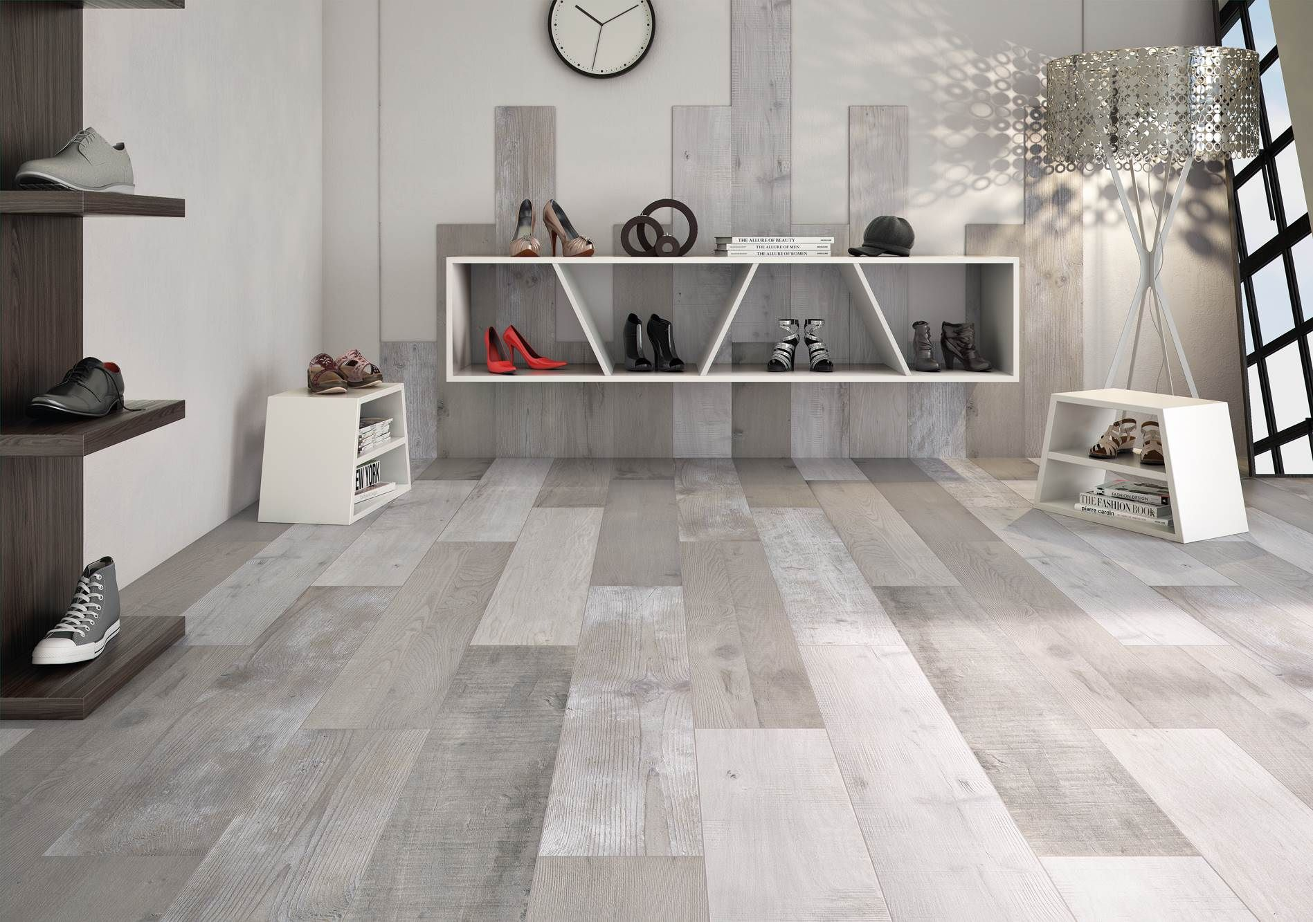 Faux wood ceramic tile