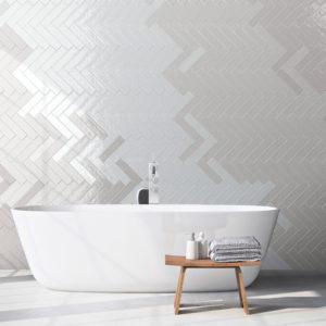 Modern grey bathroom. Spa interior. 3d rendering