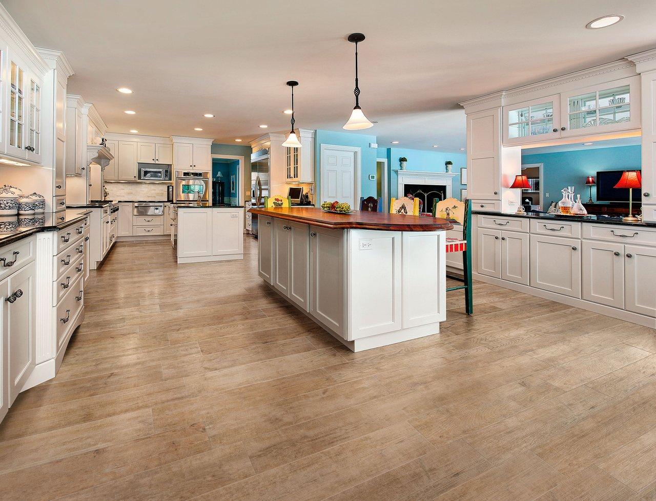 Porcelain floor tiles kitchen
