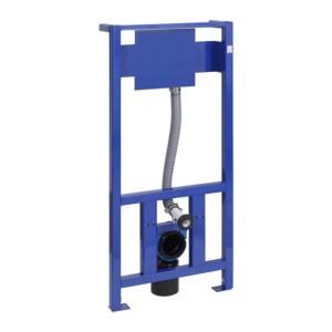 Система инсталляции для унитаза:монтажная рама с крепежным элементом и сливной трубой