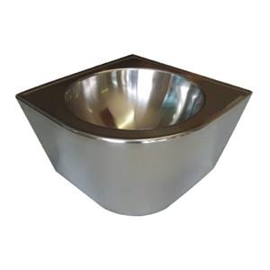 Умывальник из нержавеющей стали антивандальный подвесной диаметр 32 см