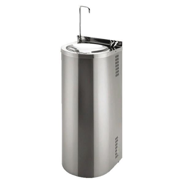 Питьевой фонтан из нержавеющей стали напольный 36 х 35 см с нажимной подачей воды для налива емкости