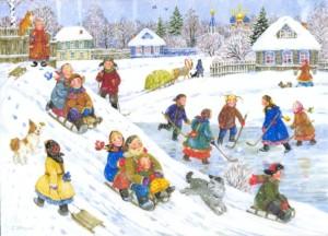 Зимой нужно кататься на санках и коньках. Здоровый образ жизни