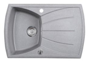Раковина гранитная, 77x51 см, серый
