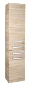 Шкафчик высокий с корзиной, 40x184x31 см, дуб