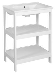 Шкафчик под умывальник 61,5x85x44 см, белый матовый