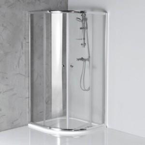 Угловая душ кабина 800x800mm, прозрачное стекло