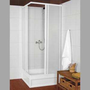 Квадратная душ кабина 800x800mm, белый профиль,