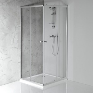 Квадратная душ кабина 900x900mm, прозрачное стекло