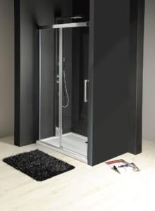 раздвижные двери 1200 мм, прозрачное стекло