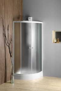 Угловая душ кабина 900x900 мм, стекло BRICK