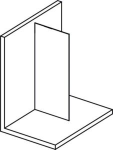 Стеклянный экран, для установки на стену, 1400 мм