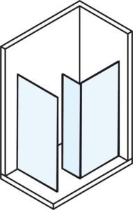 Перегородки стеклянные размеры мм A895 B880 C380 H2000